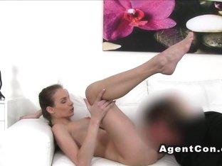 Hot fake big tits babe fucks in casting