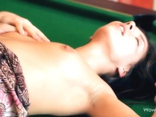 Young cute Penelope taking fat cock in her tight pussy