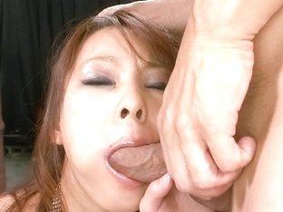 Exotic Japanese chick Asuka in Horny JAV uncensored Blowjob clip