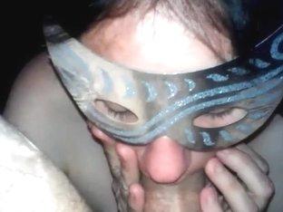 Masked wench sucked my hard wang