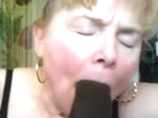 Granny blond like engulf dark shlong and cum