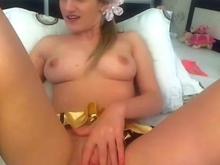 Blonde Teen Toying her Tight Pussy