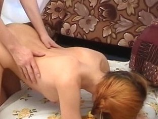 Pigtailed redhead fucked