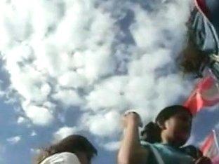 Her lovely ass is shot on a hidden camera by a voyeur