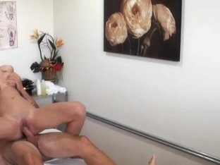 Asian masseuse cockriding and jerking client