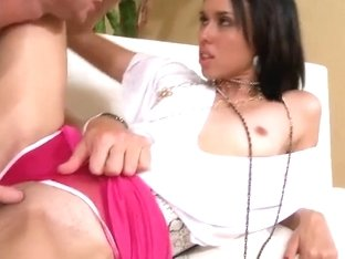 Tight ass bitch gets licked and banged hard