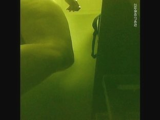 Hidden cam sex tape with amateur in dark changing room