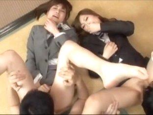 Hottest Japanese girl in Best Handjobs, Secretary JAV scene