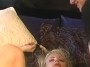 Large scones babe teased on the daybed