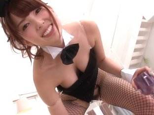 Japanese bunny cosplay with babe cocksucking