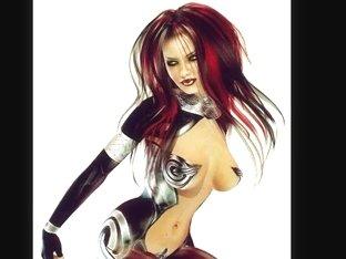 3D Perverted Women in Latex!