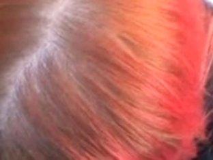 Redhead blows a pecker in public
