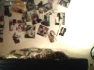 Teen hottie strips on a webcam