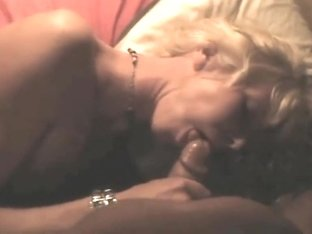 Dutch slut Marleen sucks cock