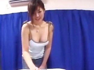A voyeur secretly films an Asian babes boobs