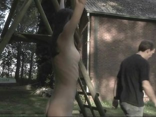 Aspen is deep assfucked after a harsh punishment outdoor