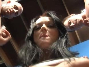 RawVidz Video: Babe Jerking Off Two Guys
