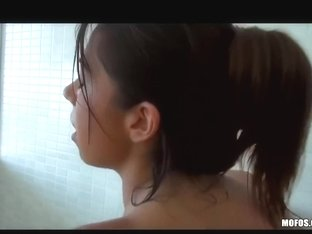 Hawt Latin Chick with a ideal couple of mambos is caught in shower