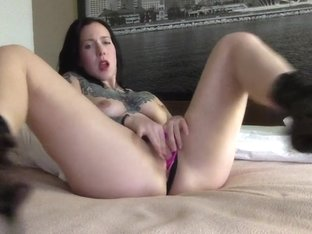 Sexy Brunette Pillow Hump 2
