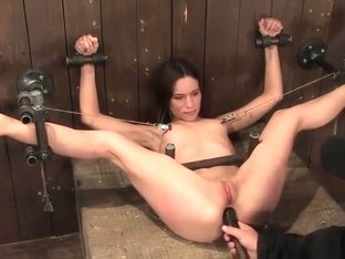 Fine-looking Amber Rayne featuring real BDSM action