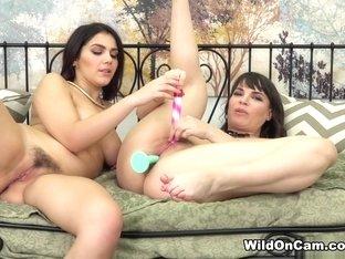 Hottest pornstars Dana DeArmond, Valentina Nappi in Crazy Lesbian, Dildos/Toys porn clip