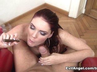 Horny pornstars Emma Leigh, David Perry in Incredible POV, Blowjob porn movie