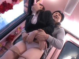 Horny Japanese whore Amateur in Exotic panties, bus JAV scene