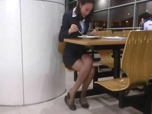 Candid Asian Sexy Legs and Feet In Nylons (Quick)