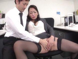 Hottest Japanese girl Rei Kitajima in Crazy stockings, blowjob JAV clip