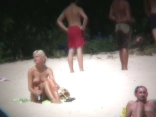 Beach XXX porno totally nude bitches and blonde w/ nice boobies