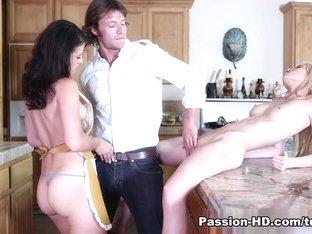 Horny pornstars Aubrey Sky, Felicia Fox, Tiffany Fox in Fabulous Pornstars, Medium Tits adult clip