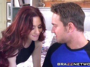 Redhead single mom Jessica Ryan needs big dick to fuck her