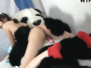 Dirty sex by Nene to cure a sick panda
