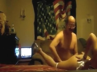 Hot girl gets her pussy eaten out by an old man