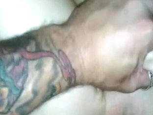 Hardcore fuck with a condom put on