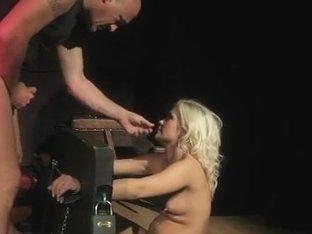 Slave in the stocks