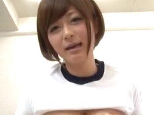 Satou Haruka Asian cutie shows nice ass to her date
