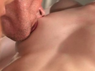 During massage masseur bangs redhead babe