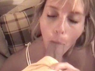 Slutty wife sucks on my jock