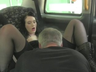 British taxi amateur rimming arse to pay fare