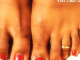 Darla TV - Ebony Feet, Perfect Red Toenails