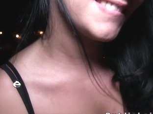 Czech beauty bangs outdoor at night pov