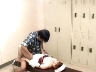 Voyeur camera caught a naughty nurse fucked hard
