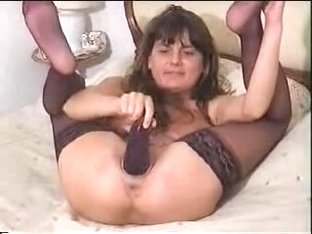 aldonze bitch c eggplant on her pussy