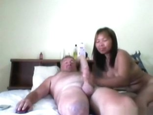 Mature pattaya slut enjoys riding big white dick !!!