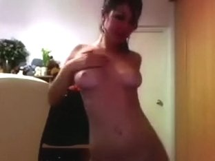 Sizzling sexy youthful brunette hair hair babe on web camera is all bare