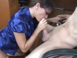 Mature teacher Michelle Lay sucking and fucking Xander Corvus