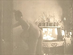 A vintage slutty wife cleaning after gangbang