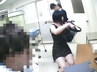 An Asian girl is up to medical voyeur exam