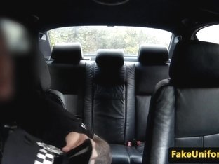 Police male anus fingers blond ho in car